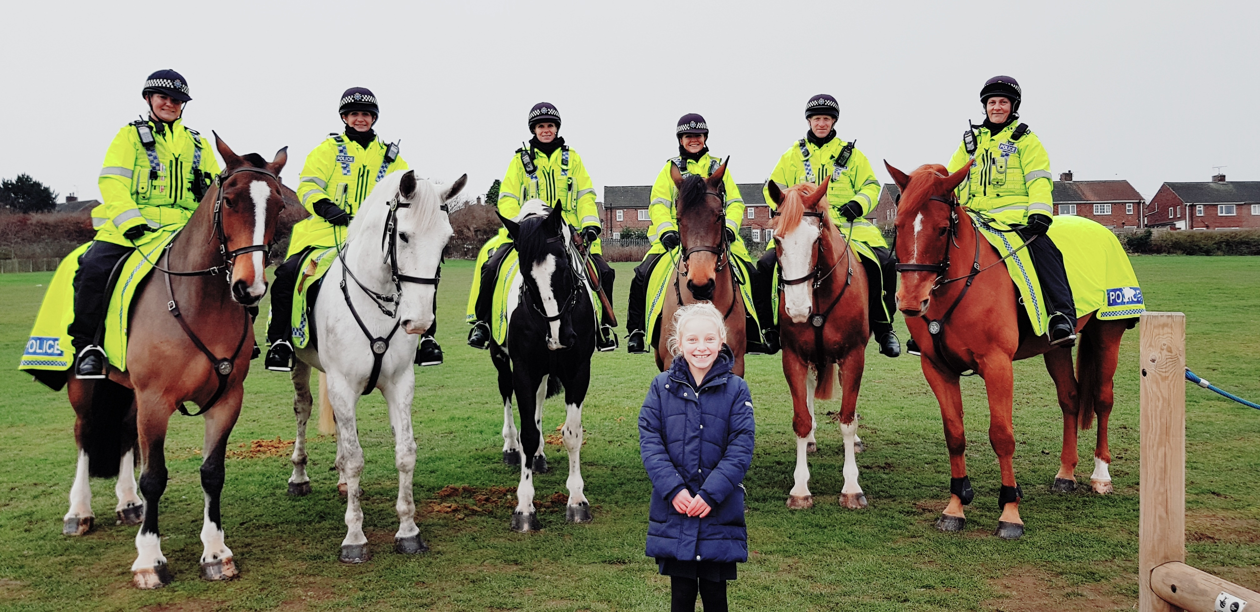 Maddison with our Mounted Police Unit