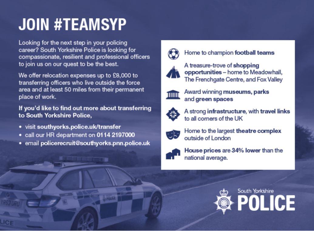 przejść do trybu online online tutaj jak kupić South Yorkshire Police - Transferee PCs & DCs - SYP