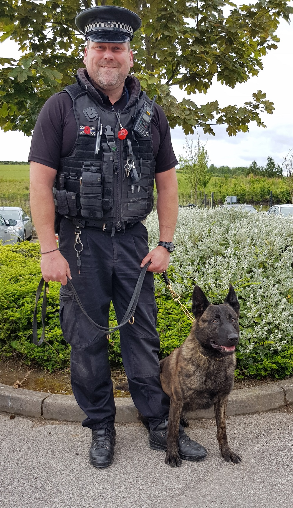 PC Greaves with PD Benson