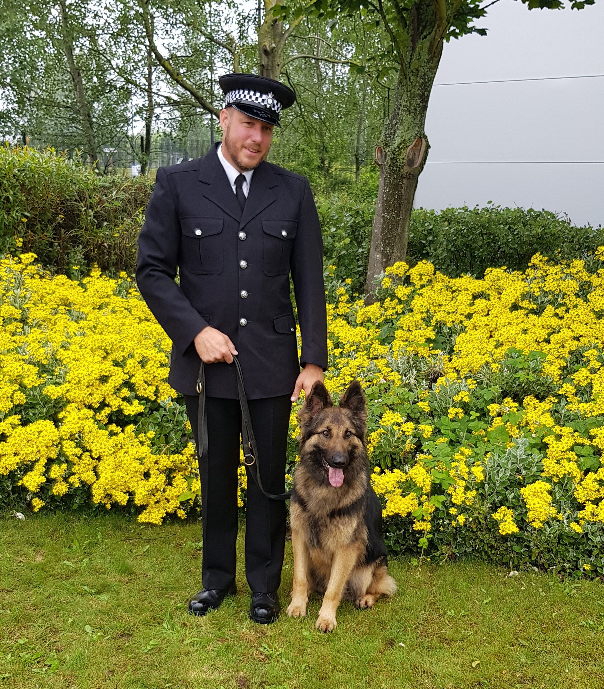 PC Aris and his dog Bear