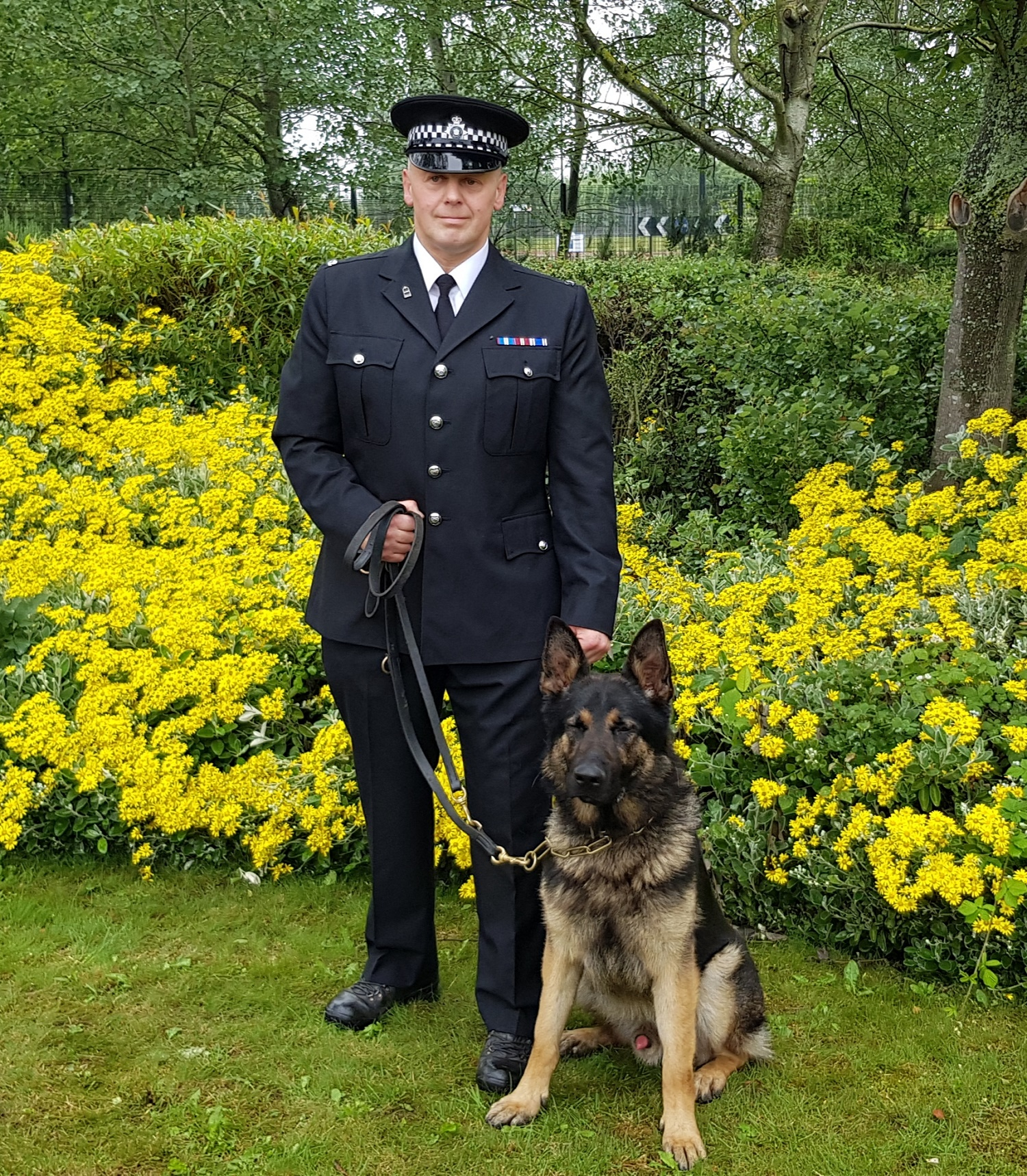 PC Schofield and his dog Bill