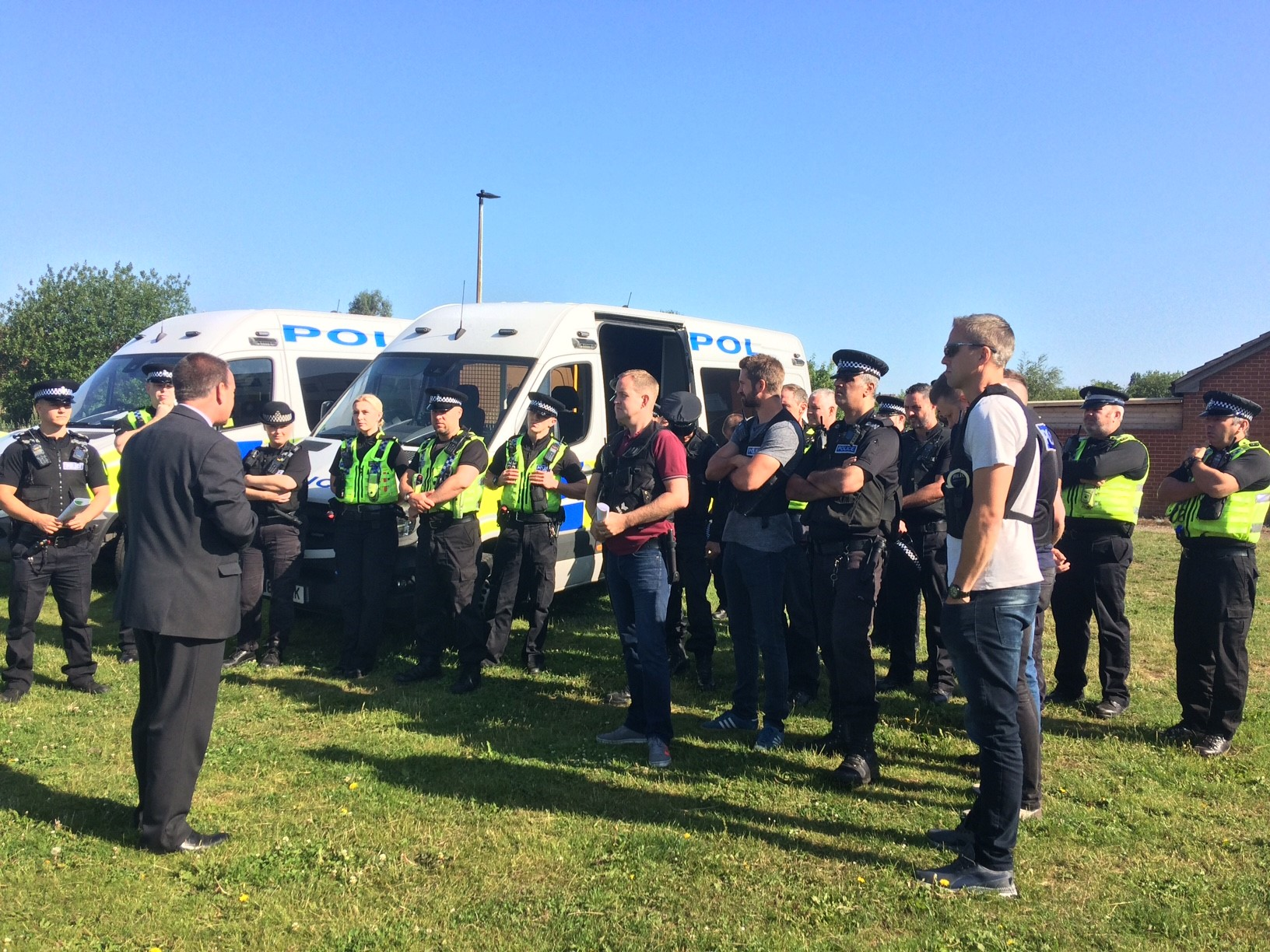 Serious and Violent Crime Task Force briefing at Schofield Park, Mexborough